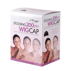Magic Stocking Wig Cap Black 200 pcs.