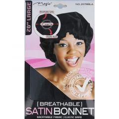 Magic Satin Bonnet Black (L). 12x