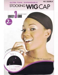 Magic Stocking Wig Cap Black 2pcs. 12x