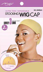 Magic Stocking Wig Cap Blond 2pcs. 12x