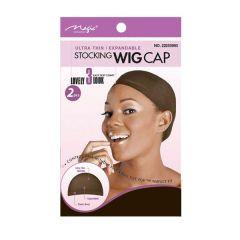 Magic Stocking Wig Cap Brown 2pcs. 12x