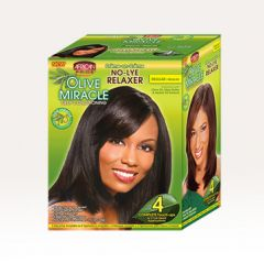 AP Olive Miracle 4-Touch-Up Relaxer Kit Regular