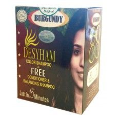 Desyham Hair Darkening Shampoo 5Pcs. Burgundy