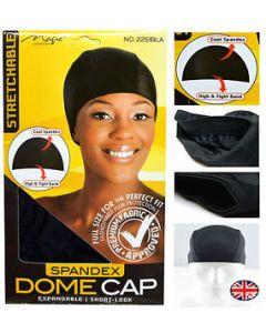 Magic Spandex Dome Cap Black. 12x