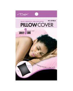 Magic Satin Pillow Cover Black. 12x