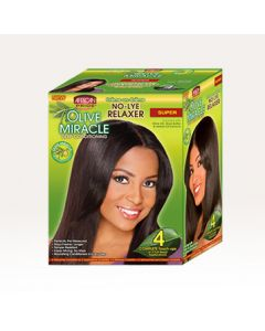 AP Olive Miracle 4-Touch-Up Relaxer Kit Super