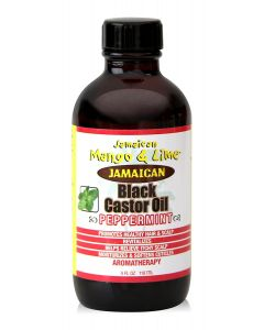 Jamaican M&L Black Castor Oil Peppermint 4oz.
