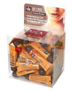 VIA Lip Care Balm #Cocoa Butter Display 48pcs.
