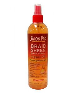 Salon Pro Braid Sheen Spray Argan 12oz.